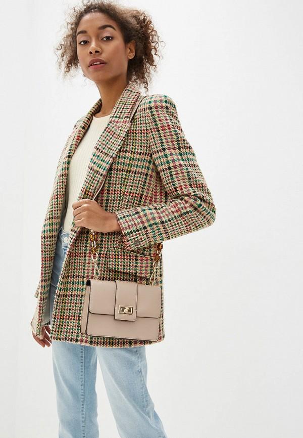Фото 4 - Женскую сумку Dorothy Perkins бежевого цвета