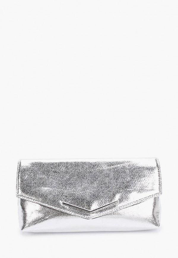 женский клатч dorothy perkins, серебряный