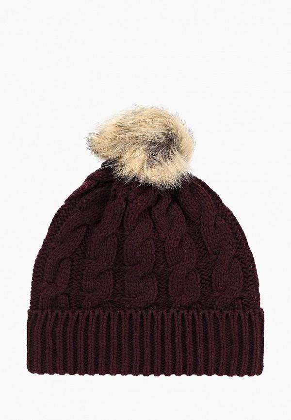 женская шапка dorothy perkins, бордовая