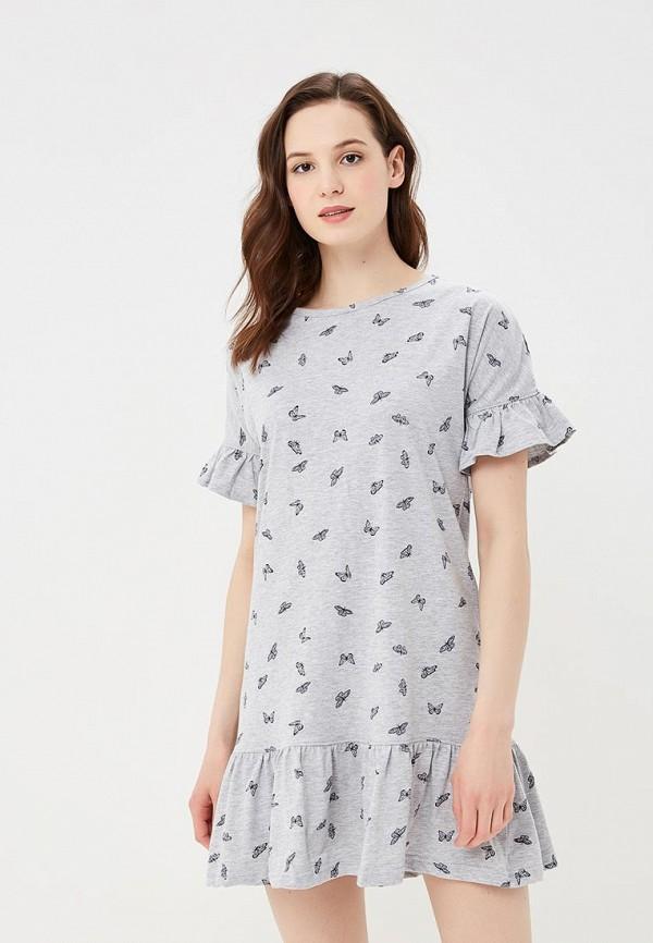 Купить Платье домашнее Dorothy Perkins, do005ewbjsd5, серый, Весна-лето 2018