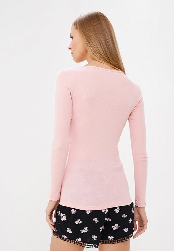 Фото 3 - Лонгслив Dorothy Perkins розового цвета