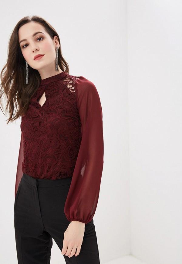 женская блузка dorothy perkins, бордовая