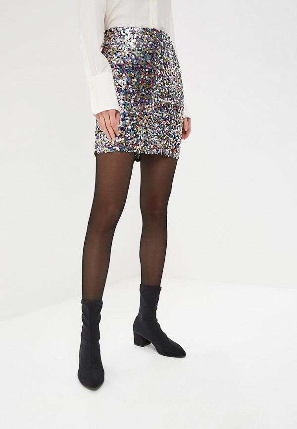 женская прямые юбка dorothy perkins, серебряная