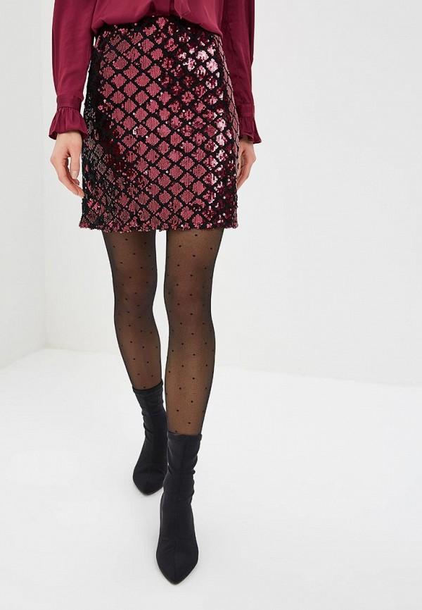 женская прямые юбка dorothy perkins, бордовая