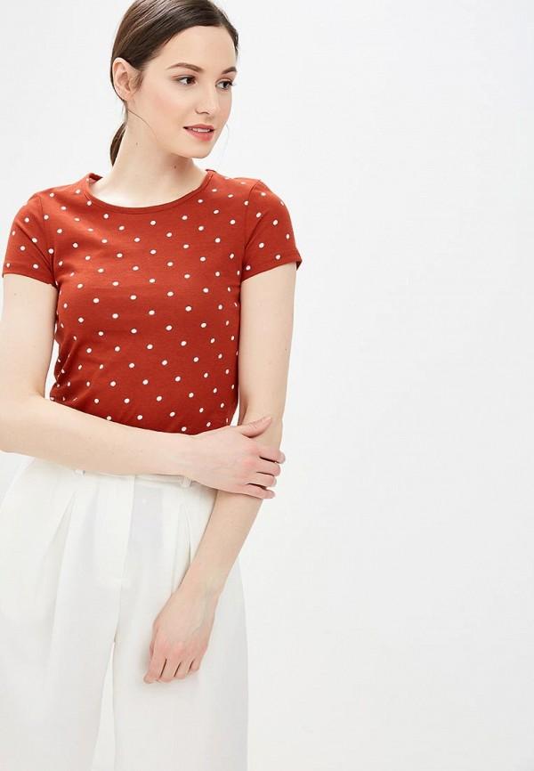 Фото - женскую футболку Dorothy Perkins коричневого цвета