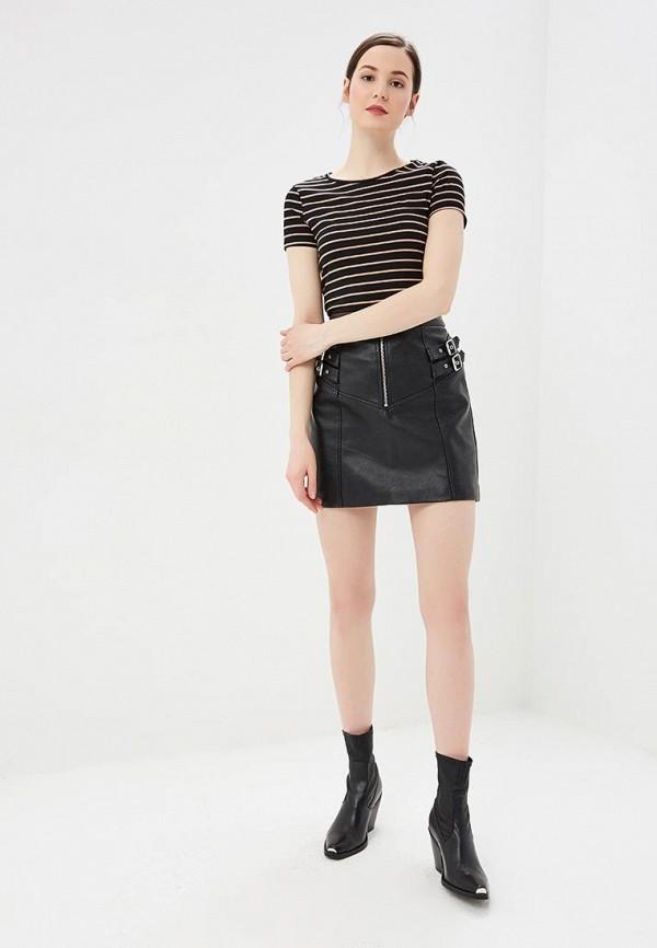 Фото 2 - женскую футболку Dorothy Perkins черного цвета