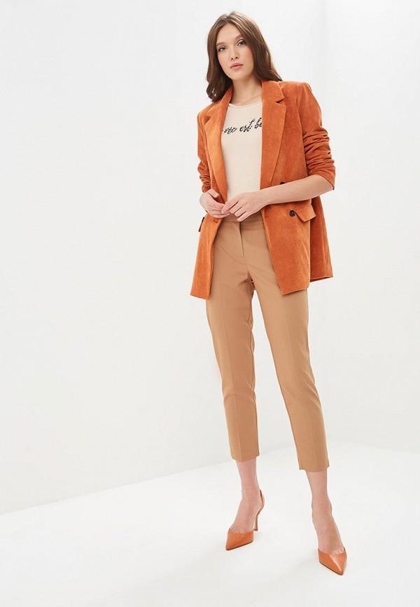 Фото 2 - женские брюки Dorothy Perkins бежевого цвета
