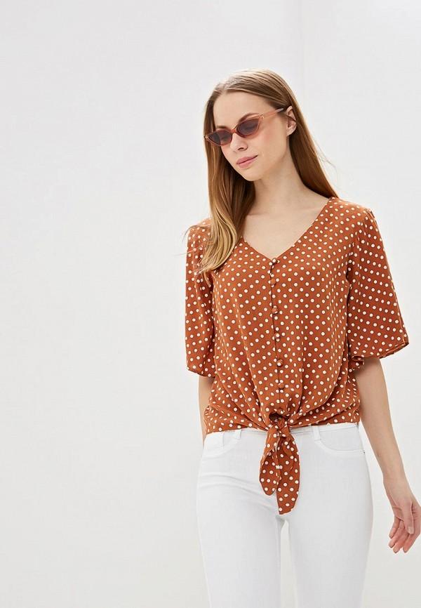 женская блузка dorothy perkins, коричневая