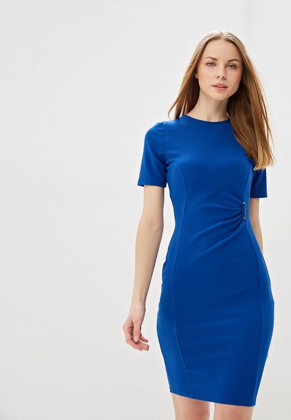 женское платье-футляр dorothy perkins, синее