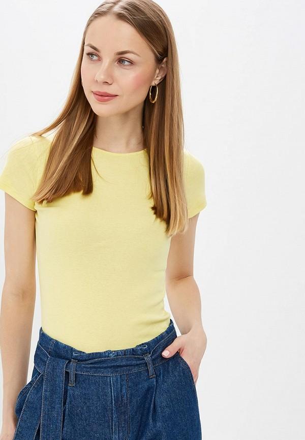 женская футболка dorothy perkins, желтая