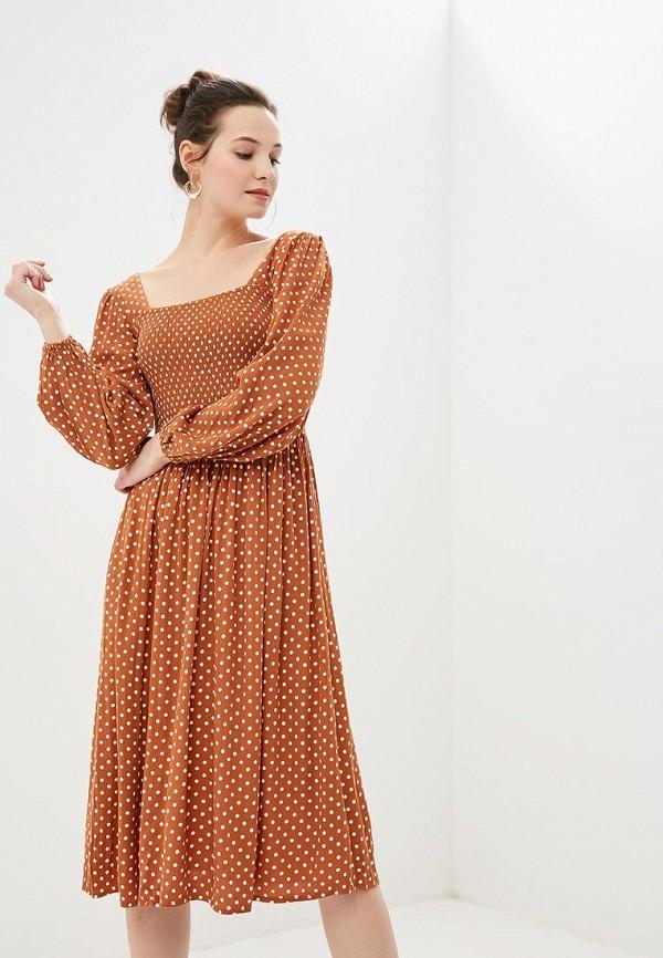 женское повседневные платье dorothy perkins, коричневое