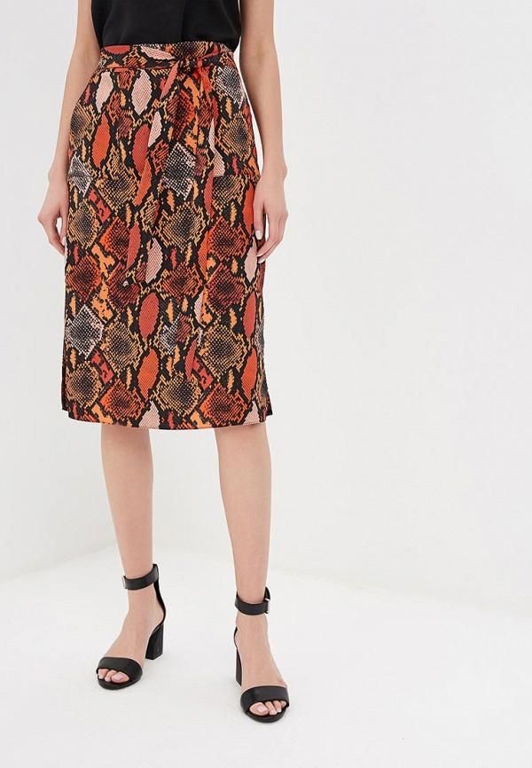 женская прямые юбка dorothy perkins, оранжевая