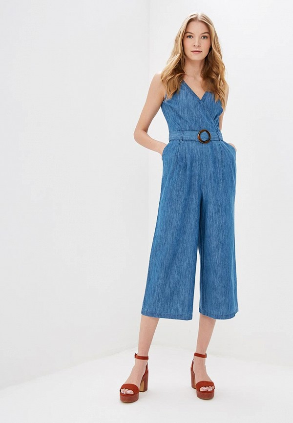 женский джинсовые комбинезон dorothy perkins, голубой