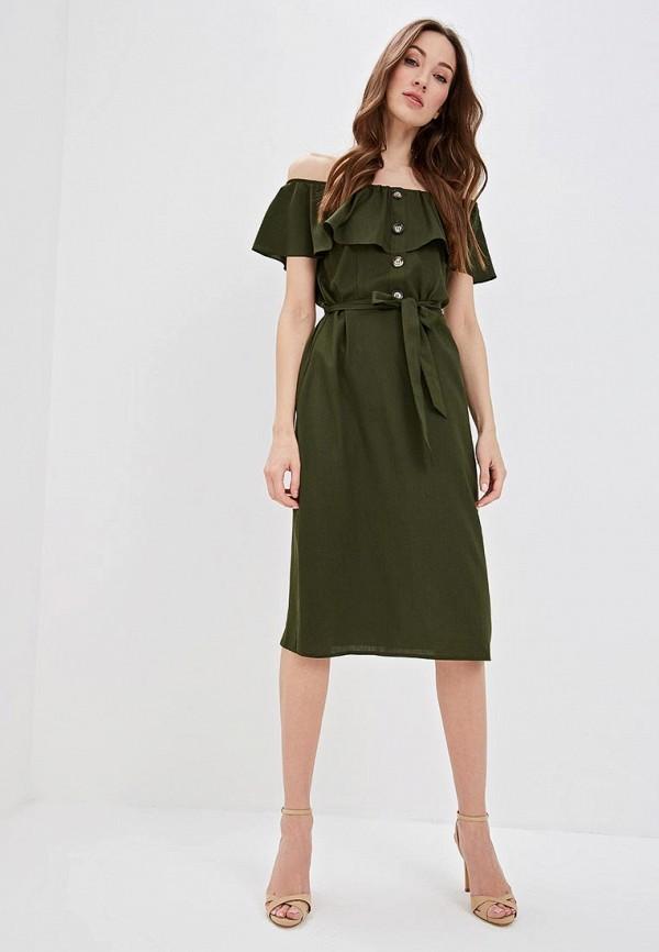 Фото 2 - женское платье Dorothy Perkins цвета хаки