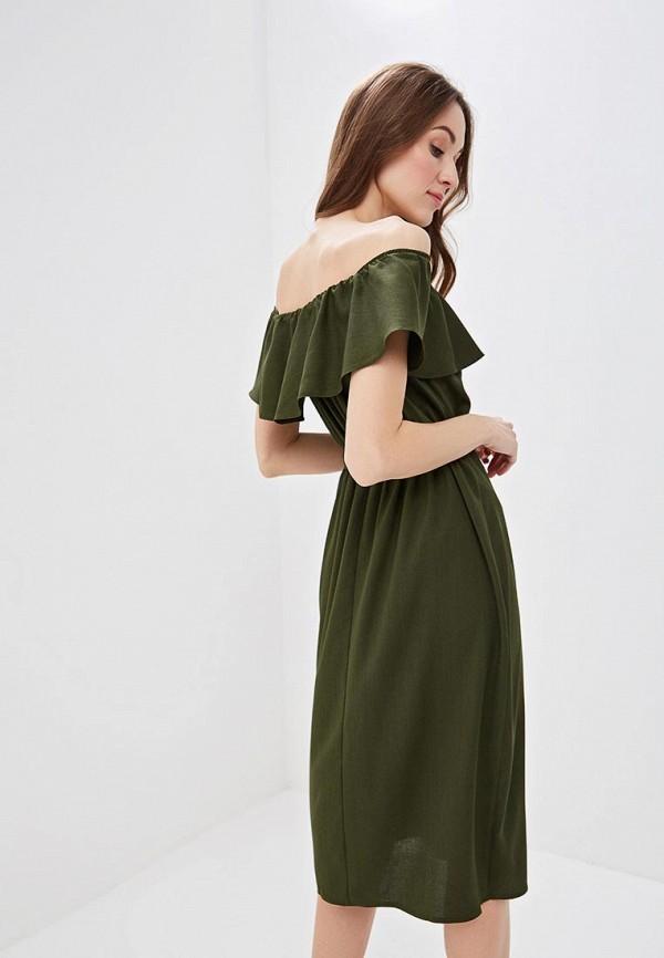 Фото 3 - женское платье Dorothy Perkins цвета хаки