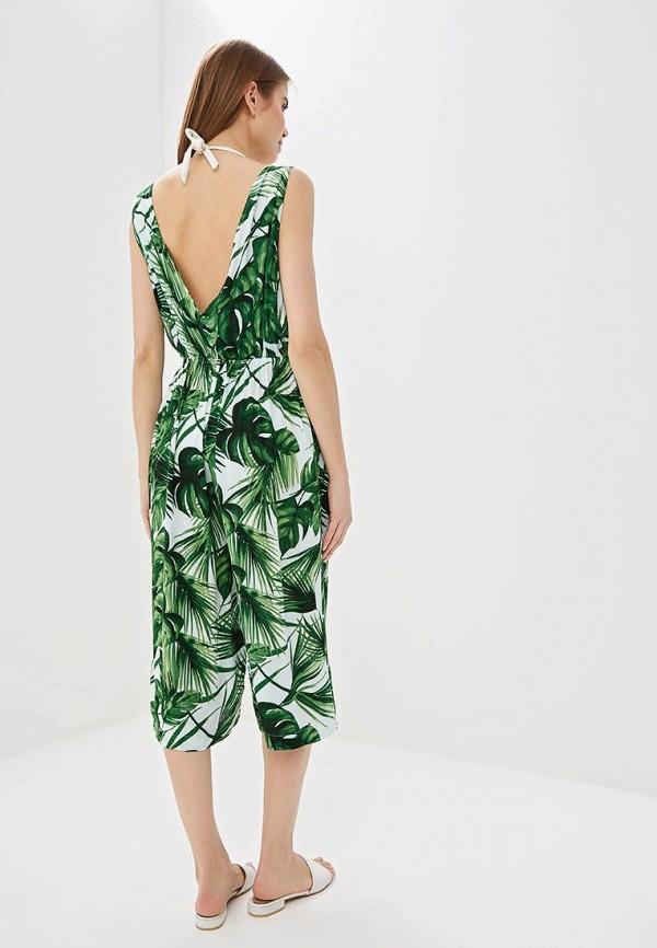 Фото 3 - женский комбинезон Dorothy Perkins зеленого цвета