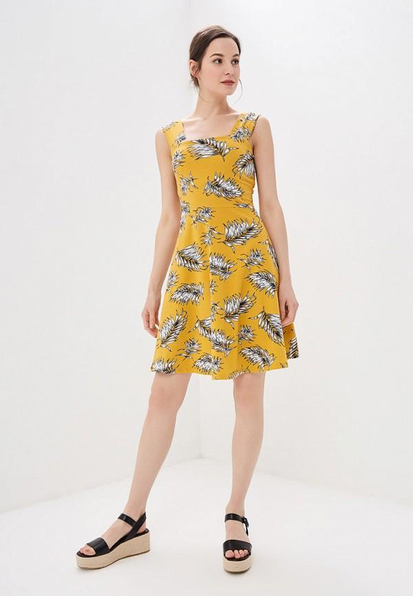 Фото 2 - женский сарафан Dorothy Perkins желтого цвета