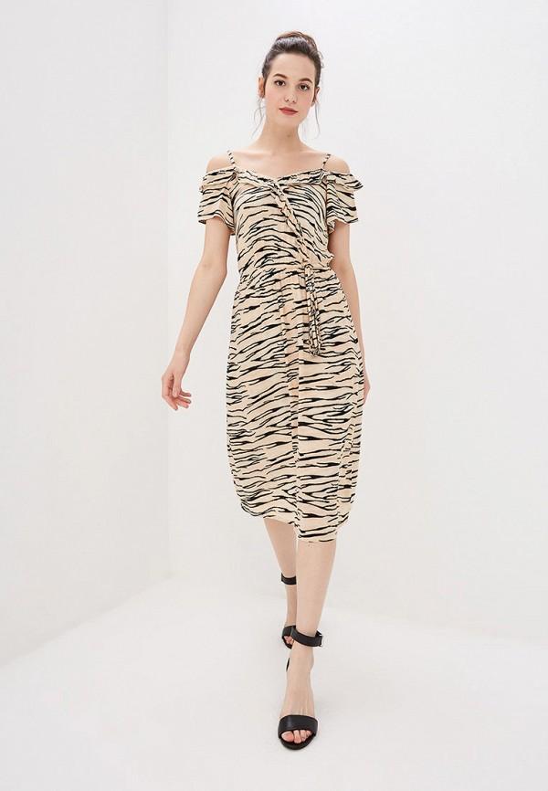 Фото 2 - женское платье Dorothy Perkins бежевого цвета