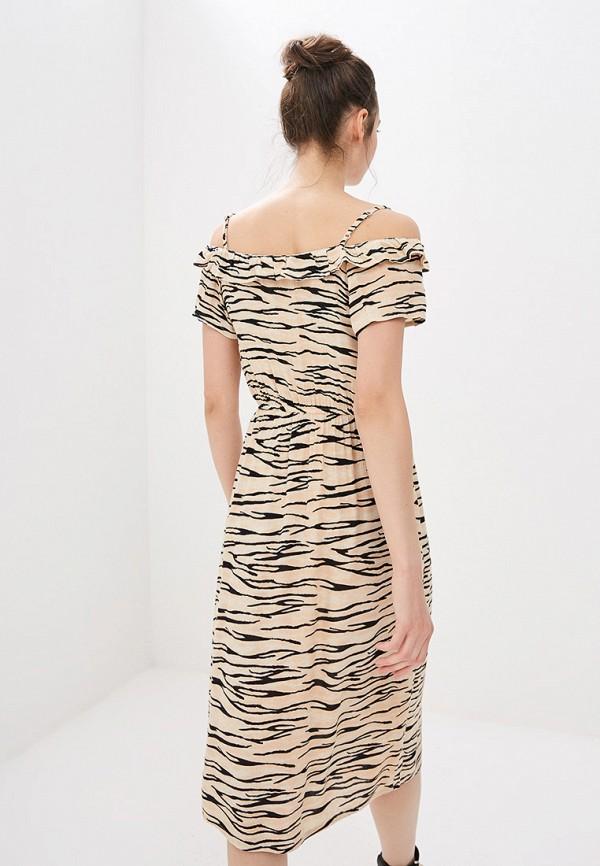 Фото 3 - женское платье Dorothy Perkins бежевого цвета