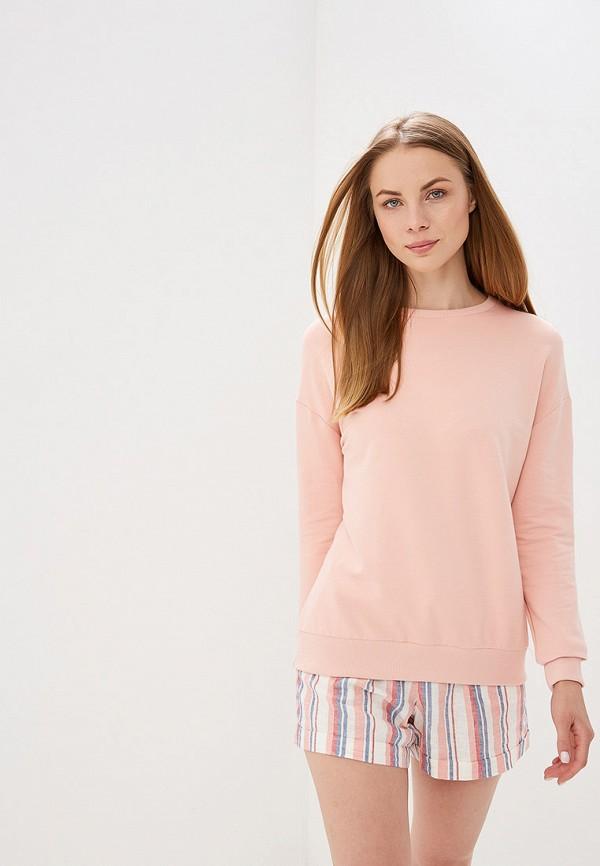 женский свитшот dorothy perkins, розовый