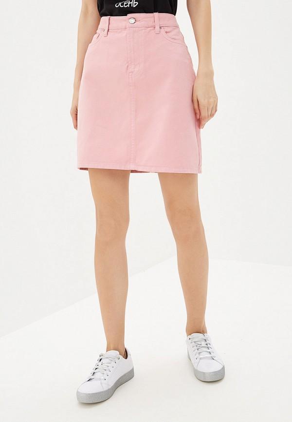 женская джинсовые юбка dorothy perkins, розовая