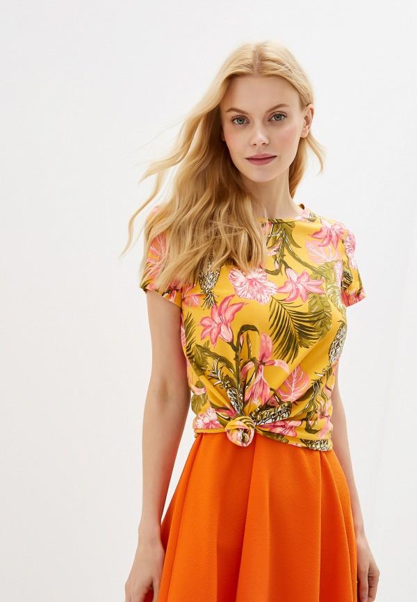 женская футболка dorothy perkins, оранжевая