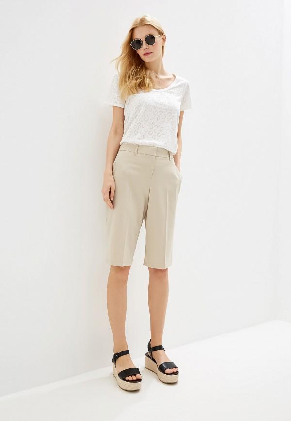 Фото 2 - Женские шорты Dorothy Perkins бежевого цвета