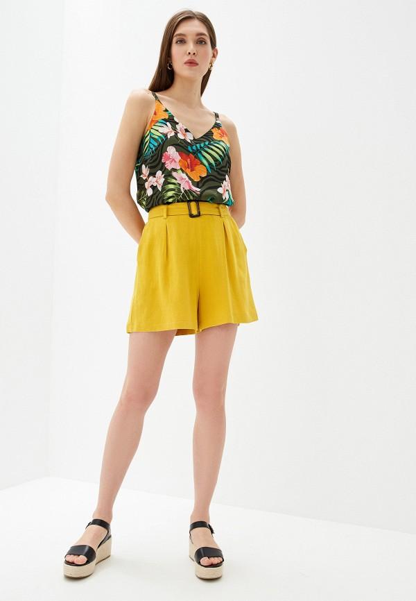 Фото 2 - Женские шорты Dorothy Perkins желтого цвета