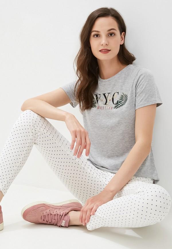 женская футболка dorothy perkins, серая