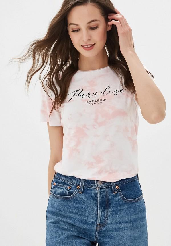 женская футболка dorothy perkins, розовая