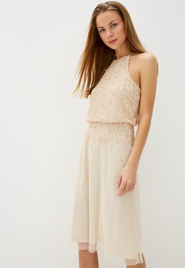 женское вечерние платье dorothy perkins, бежевое