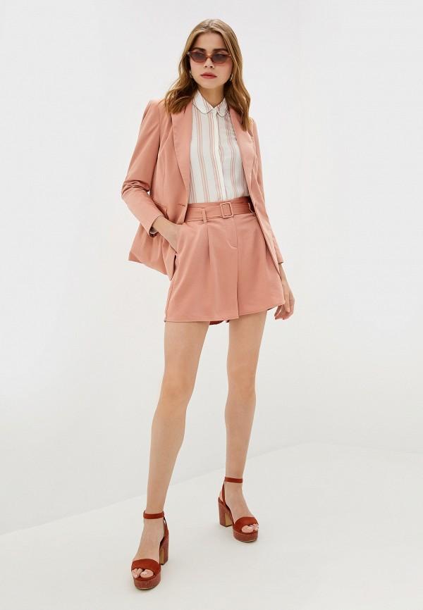 Фото 2 - женские шорты Dorothy Perkins розового цвета