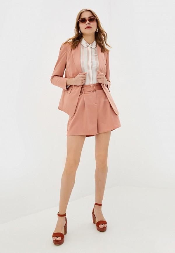 Фото 2 - женский пиджак Dorothy Perkins розового цвета
