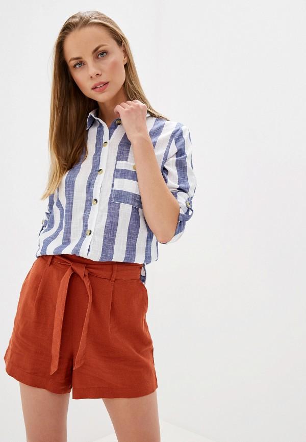 женская рубашка с длинным рукавом dorothy perkins, синяя