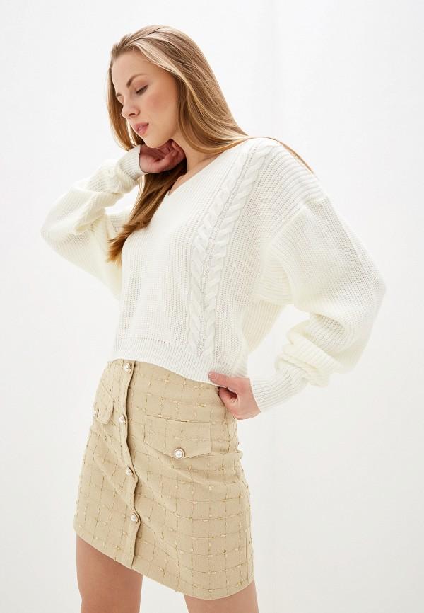 женский пуловер dorothy perkins, белый