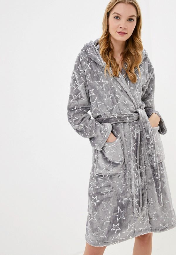 женский халат dorothy perkins, серый