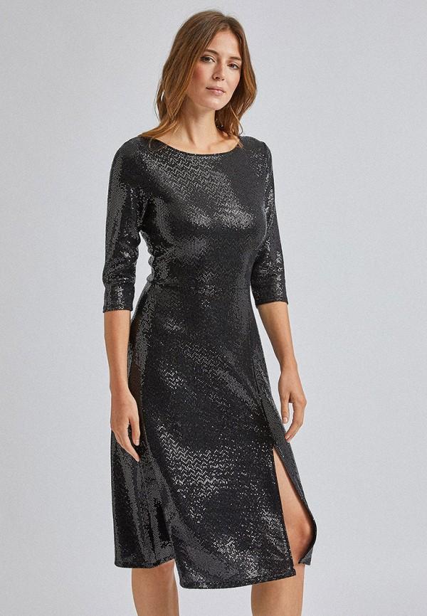 женское вечерние платье dorothy perkins, серебряное