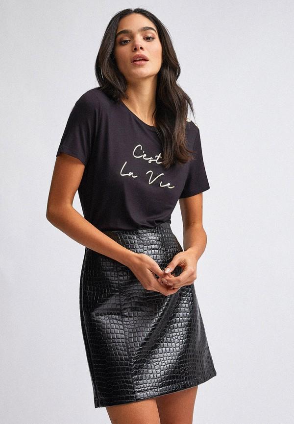 женская футболка dorothy perkins, черная