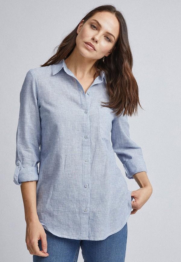 женская рубашка с длинным рукавом dorothy perkins, голубая