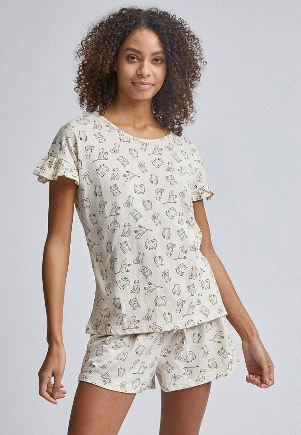 женская пижама dorothy perkins, бежевая
