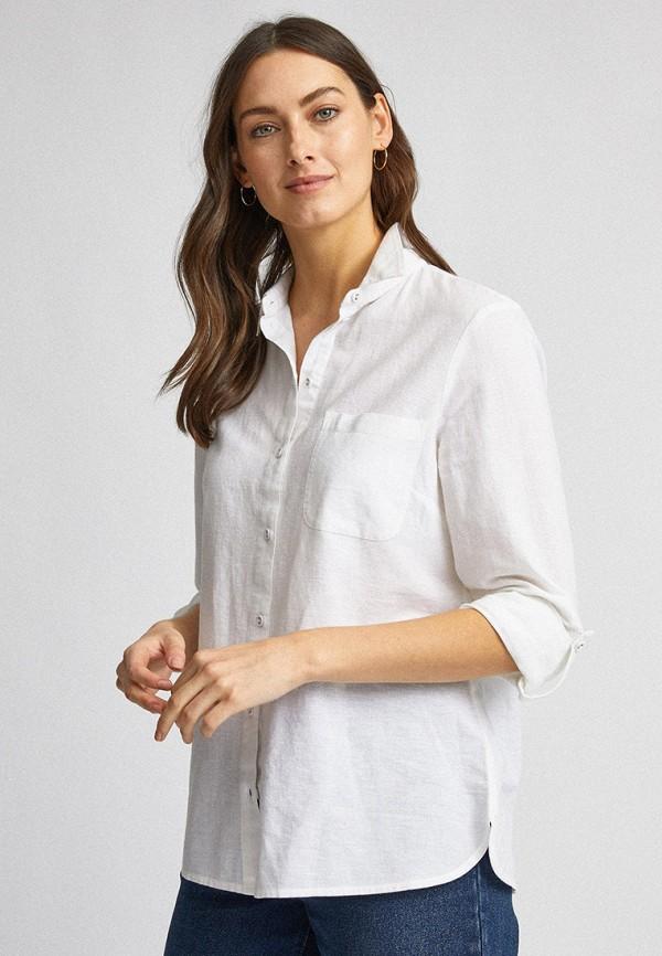 женская рубашка с длинным рукавом dorothy perkins, белая