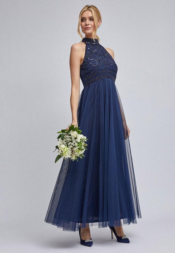 женское вечерние платье dorothy perkins, синее