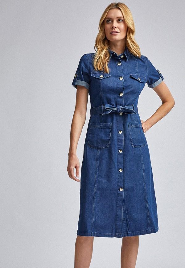 женское джинсовые платье dorothy perkins, синее