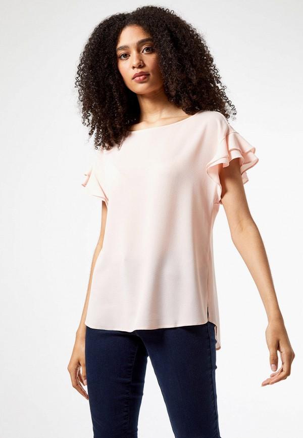 женская блузка dorothy perkins, розовая