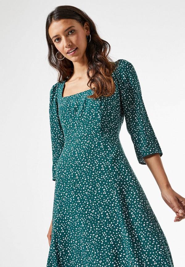 женское повседневные платье dorothy perkins, бирюзовое