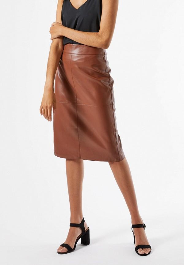 женская прямые юбка dorothy perkins, коричневая