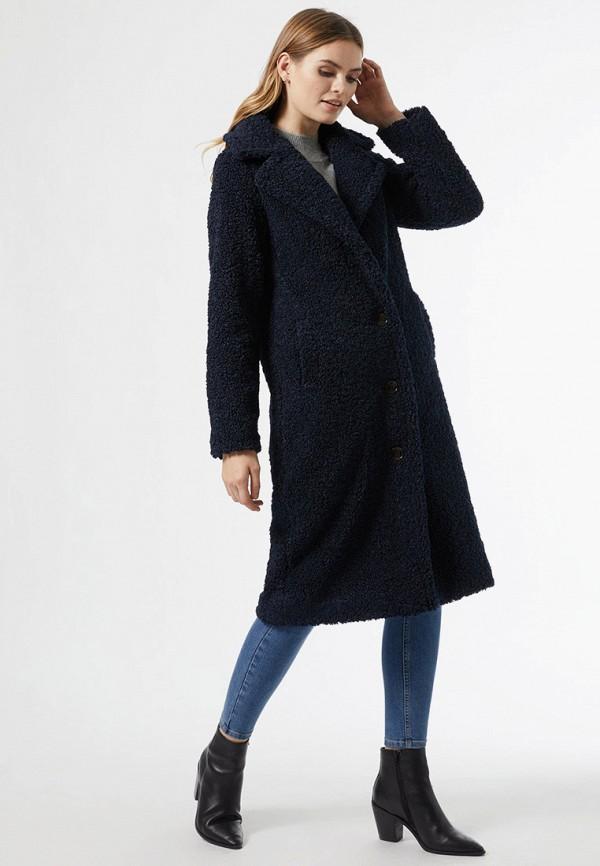 женская шуба dorothy perkins, синяя