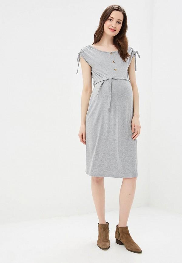 Фото 2 - женское платье Dorothy Perkins Maternity серого цвета