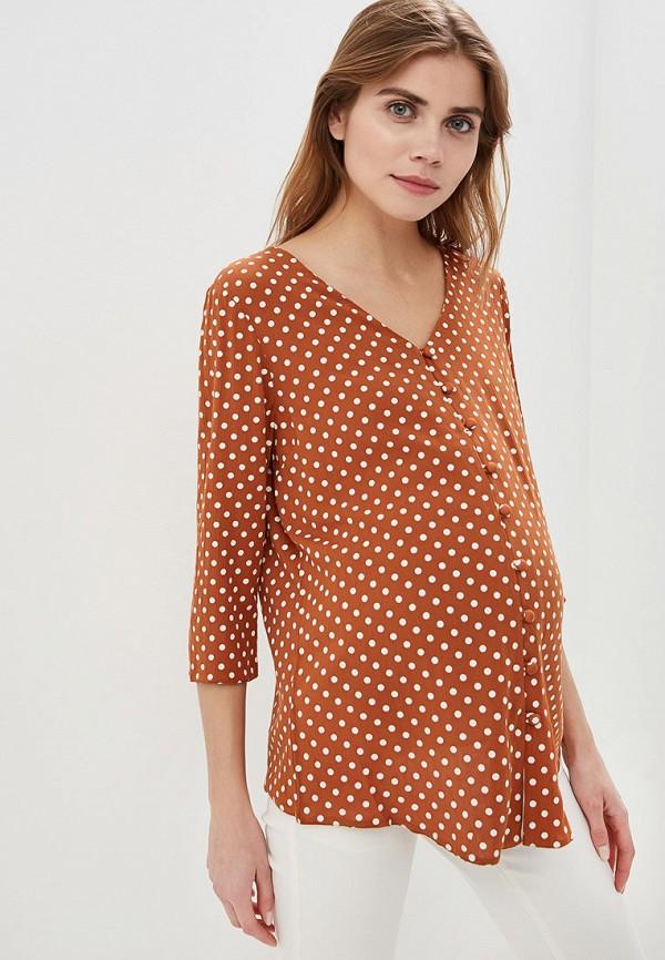 женская блузка dorothy perkins maternity, коричневая