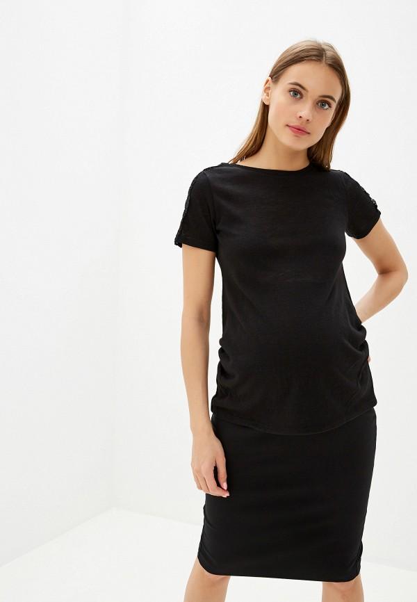 женская футболка для беременных dorothy perkins maternity, черная